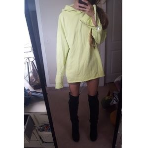 lime highlighter green yellow oversized hoodie
